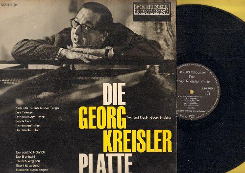 Kreisler, Georg - Die Georg Kreisler Platte: Tauben vergiften, Der Musikkritiker, Zwei alte Tanten tanzen Tango (Vinyl MONO LP record, German Pressing, sung in German) - EX8/VG7 - LP Records