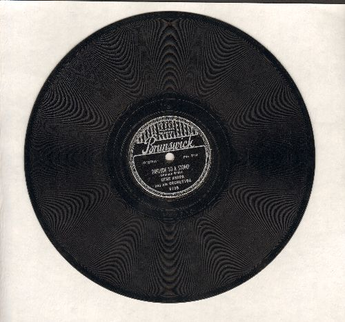 Krupa, Gene & His Orchestra - Prelude To A Stomp/Fare Thee Well, Annie Laurie (10 inch 78 rpm record) - VG7/ - 78 rpm