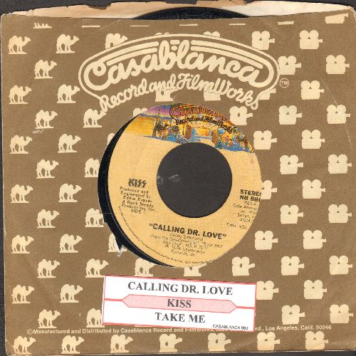 KISS - Calling Dr. Love/Take Me (with juke box label and Casablanca company sleeve) - VG7/ - 45 rpm Records