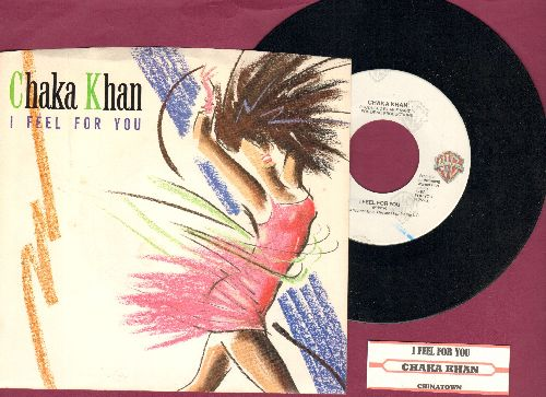 Khan, Chaka - I Feel For You/Chinatown (with picture sleeve and juke box label) - NM9/NM9 - 45 rpm Records