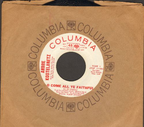 Kostelanetz, Andre & St. Killian Boy Choir - O Come All Ye Faithful/Oh Tannenbaum (DJ advance pressing with Columbia company sleeve) - NM9/ - 45 rpm Records