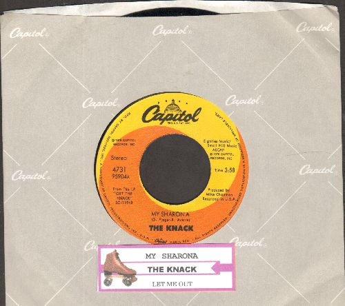 Knack - My Sharona/Let Me Out (Billboard's 1980 Song Of The Year, 6 Weeks at # 1 of US Pop Chart!) (with Capitol company sleeve and juke box label) - NM9/ - 45 rpm Records