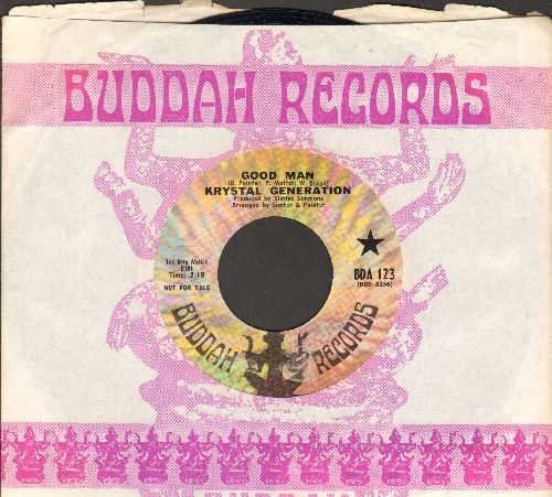 Krystal Generation - Good Man/I've Got To Leave Him (RARE Funk 2-sider, DJ advance pressing with Buddah company sleeve) - NM9/ - 45 rpm Records