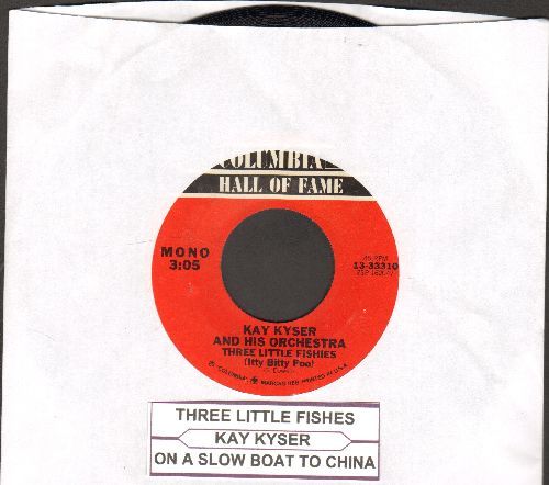 Kyser, Kay & His Orchestra - Three Little Fishies (Itty Bitty Poo)/On A Slow Boat To China (double-hit re-issue with juke box label) - NM9/ - 45 rpm Records