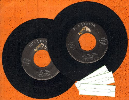 Lauren, Rod - 2 for 1 Special: If I Had A Girl/This I Know (2 first pressing 45s with 3 blank juke box labels. GREAT for a juke box!) - EX8/ - 45 rpm Records