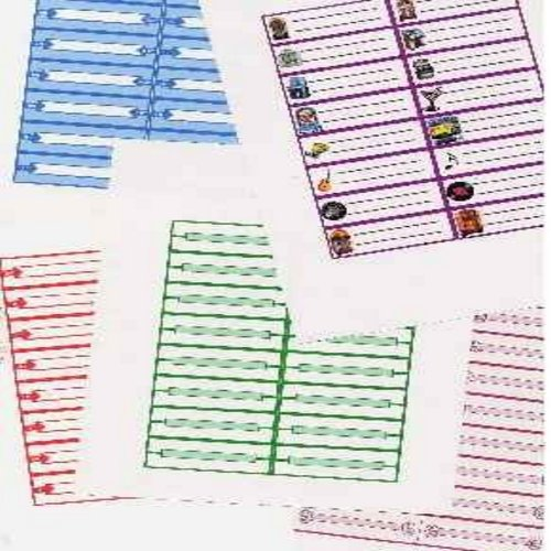 Juke Box Labels - Juke Box Labels - 5 Sheets @ 16 Labels = 80 Total. Variety of Styles. On durable hard paper stock. Fill in your favorite 45rpm artist/titles for Juke Box Play! Sheets can be scrolled into Word Processors or Type Writers. - /M10 - Supplie