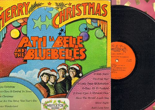Labelle, Patti & The Bluebelles - Merry Christmas: Santa Claus Is Coming To Town, Winter Wonderland, White Christmas, The First Noel, Auld Lang Syne (vinyl STEREO LP record) - NM9/VG7 - LP Records