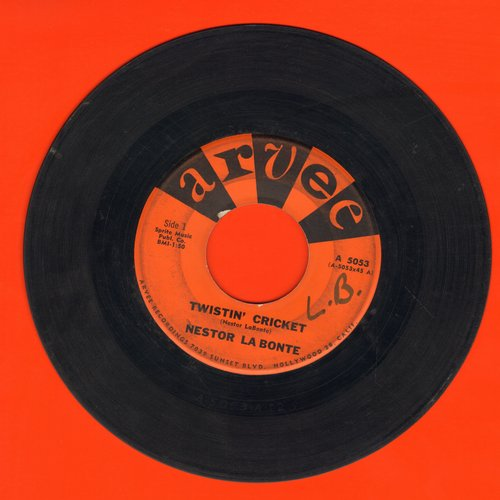 La Bonte, Nestor - Twistin' Cricket/Jeannette (wol) - VG7/ - 45 rpm Records