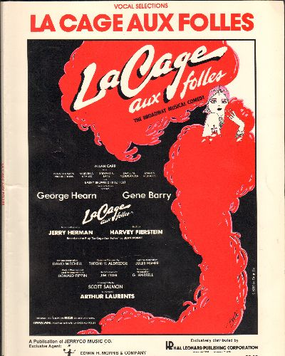 La Cage Aux Folles - La Cage Aux Folles - SHEET MUSIC Book with more than 40 pages of vocal selections from the Broadway Hit. - EX8/ - Sheet Music