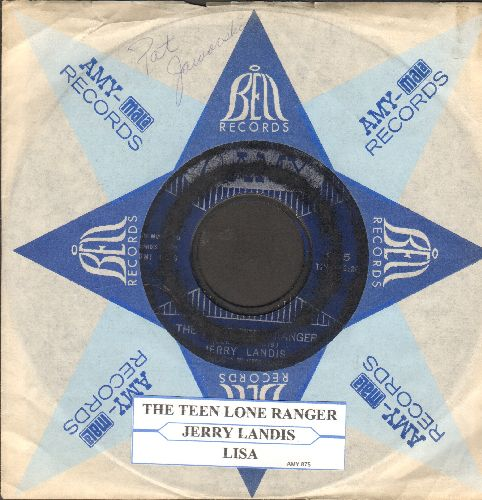 Landis, Jerry - The Lone Teen Ranger/Lisa (RARE vintage Paul Simon two-sider with juke box label and Amy company sleeve) - VG6/ - 45 rpm Records