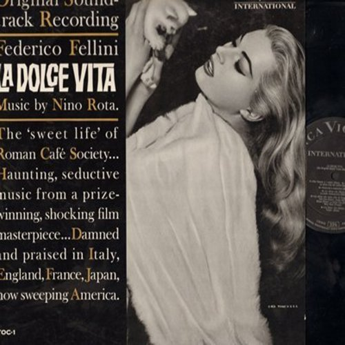Rota, Nino - La Dolce Vita - Original Soundtrack Recording from the Federico Fellini Classic, Music by Nino Rota (Vinyl MONO LP record) - NM9/EX8 - LP Records