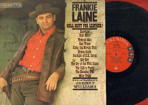 Laine, Frankie - Hell Bent For Leather!: Rawhide, High Noon, Cool Water, The Hanging Tree, Mule Train (Vinyl MONO LP record) - EX8/EX8 - LP Records