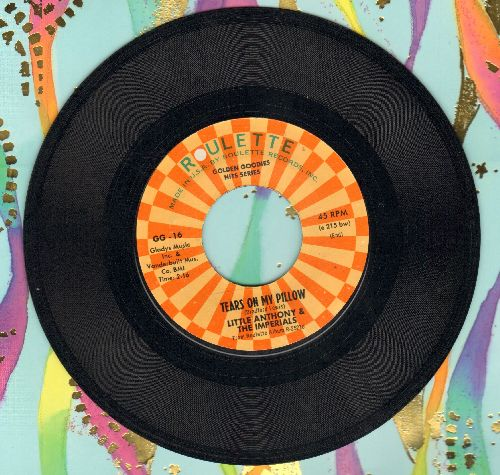 Little Anthony & The Imperials - Tears On My Pillow/A Prayer And A Juke Box (authentic-looking double-hit re-issue) - NM9/ - 45 rpm Records