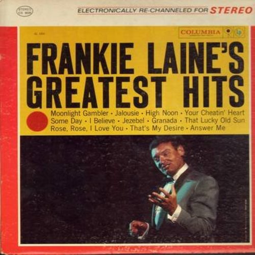 Laine, Frankie - Frankie Laine's Greatest Hits: High Noon, Jezebel, That's My Desire, That Lucky Old Sun, Granada, I Believe (Vinyl STEREO LP record) - NM9/EX8 - LP Records