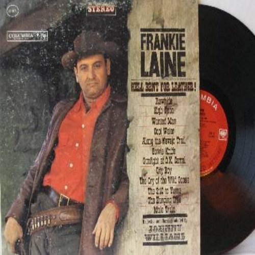 Laine, Frankie - Hell Bent For Leather!: Rawhide, High Noon, Cool Water, The Hanging Tree, Mule Train (Vinyl STEREO LP record) - VG7/VG7 - LP Records