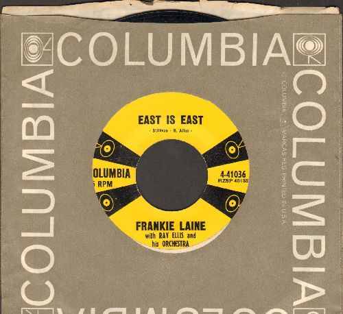 Laine, Frankie - East Is East/The Greater Sin (with vintage Columbia company sleeve) - NM9/ - 45 rpm Records