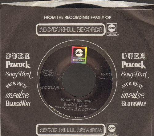Laine, Frankie - To Each His Own/I'm Happy To Hear You're Sorry (with company sleeve) - NM9/ - 45 rpm Records