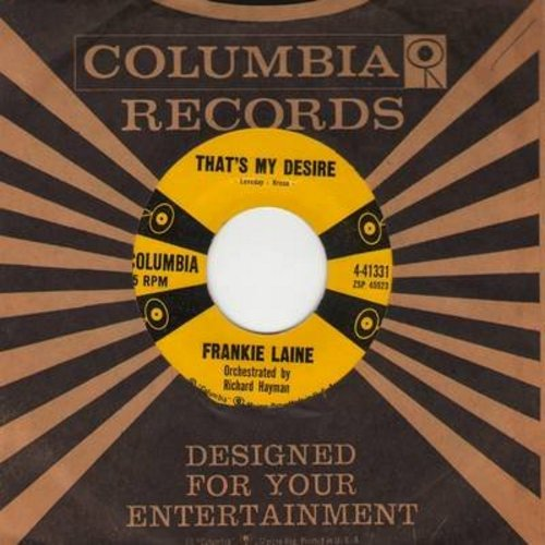 Laine, Frankie - That's My Desire/In My Wildest Dreams (with vintage Columbia company sleeve) - EX8/ - 45 rpm Records