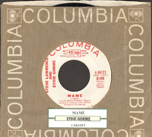 Lawrence, Steve & Eydie Gorme - Cabaret/Mame (DJ advance pressing withjuke box label and Columbia company sleeve) - EX8/ - 45 rpm Records