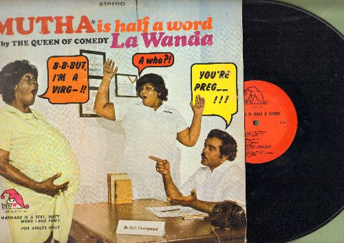 La Wanda - Mutha Is Half A Word - by The Queen Of Comedy (vinyl STEREO LP record) - EX8/VG7 - LP Records