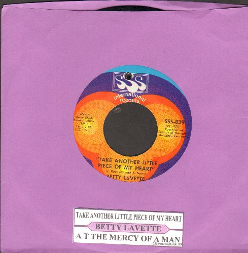 LaVette, Betty - Take Another Piece Of My Heart (RARE Sul-Version of the Janis Joplin Classic)/At The Mercy of A Man (with juke box label, bb) - NM9/ - 45 rpm Records