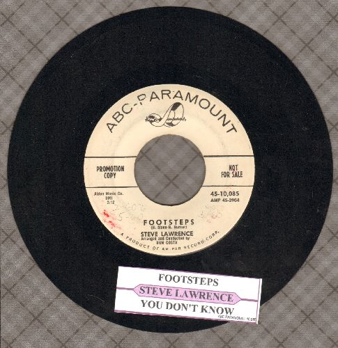 Lawrence, Steve - Footsteps/You Don't Know (DJ advance pressing with juke box label) - EX8/ - 45 rpm Records
