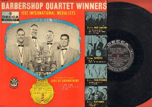 Lads Of Enchantment, West Coasters, Gaynotes, others - Barbershop Quartet Winners - 1957 International Medalists: America, God Save The Queen, Alexander's Ragtime Band (vinyl MONO LP record) - VG7/VG7 - LP Records