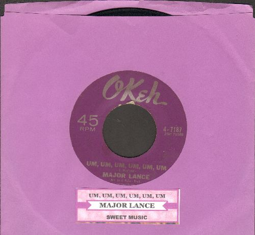 Lance, Major - Um, Um, Um, Um, Um, Um/Sweet Music (with juke box label) - EX8/ - 45 rpm Records