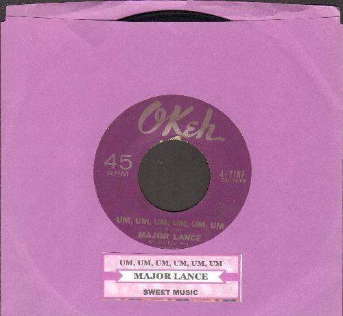 Lance, Major - Um, Um, Um, Um, Um, Um/Sweet Music (with juke box label) - EX8/ - 45 rpm Records