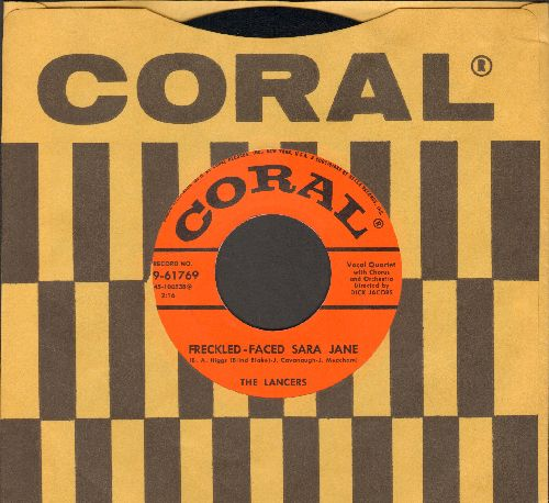 Lancers - Freckle-Faced Sara Jane/It Happened In Monterey (with vintage Coral company sleeve) - EX8/ - 45 rpm Records