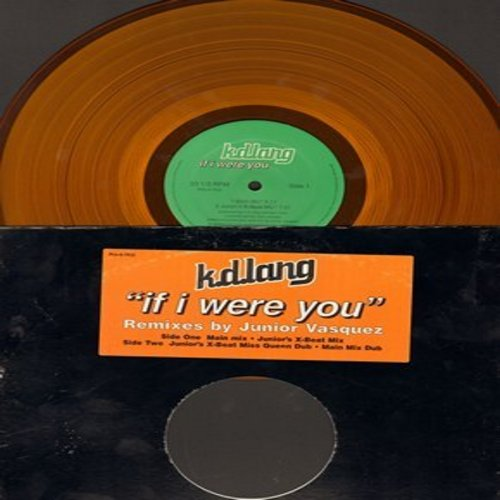lang, k.d. - If I Were You (4 Extended Dance Club versions on 12 inch yellow vinyl Maxi Single) - NM9/ - Maxi Singles