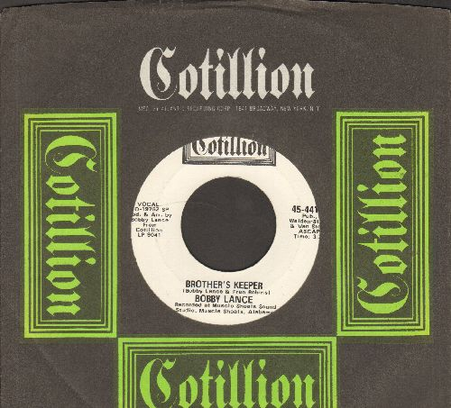 Lance, Bobby - Brother's Keeper (double-A-sided DJ advance pressing featuring MONO and STEREO version, with Cotillion company sleeve) - M10/ - 45 rpm Records