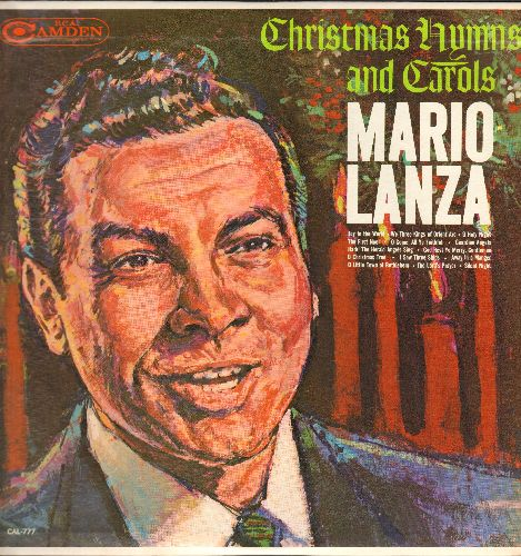 Lanza, Mario - Christmas Hymns and Carols: Joy To The World, The First Noel, Silent Night, O Christmas Tree (vinyl LP record, 1963 issue of vintage recordings) - EX8/NM9 - LP Records