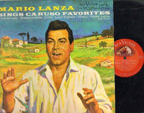 Lanza, Mario - Mario Lanza Sings Caruso Favorites: Vieni sul mar, Musica proibita, Lolita, Luna d'estate, Ideale, Santa Luci (vinyl MONO LP record, Red Seal Pressing) - NM9/NM9 - LP Records