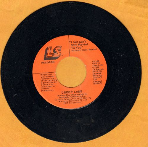Lane, Cristy - I Just Ca't Stay Married To You/Rainsong - NM9/ - 45 rpm Records