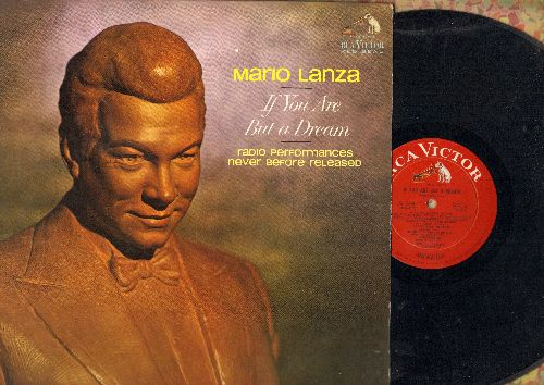 Lanza, Mario - If You Are But A Dream - Radio Performances Never Before released: April In Paris, My Buddy, Where Or When, Charmaine (vinyl MONO LP record, RARE Red Seal Pressing) - EX8/EX8 - LP Records