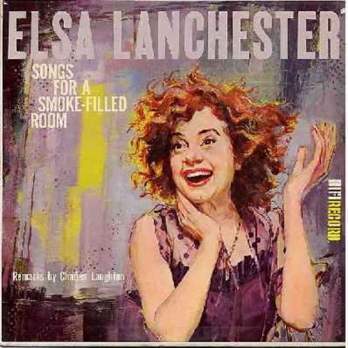 Lanchester, Elsa - Songs For A Smoke-Filled Room: Lola's Saucepan, If You Peek In My Gazebo, Never Go Walking Without Your Hat Pin, Linda And Her Londonderry Air, At The Drive-In (Vinyl MONO LP record) - NM9/EX8 - LP Records