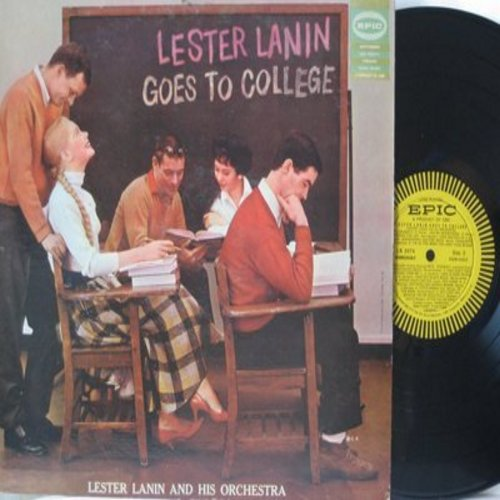 Lanin, Lester & His Orchestra - Lester Lanin Goes To College: Blue Moon, Sentimental Journey, Charleston, I'm In The Mood For Love, 'S Wonderful (Vinyl MONO LP rwcord) - NM9/EX8 - LP Records