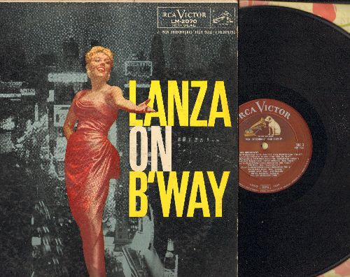 Lanza, Mario - Lanza On B'Way: On The Street Where You Leave, September Song, You'll Never Walk Alone (Vinyl MONO LP record, RED SEAL pressing) - EX8/VG7 - LP Records