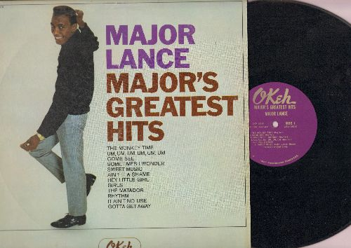 Lance, Major - Major's Greatest Hits: The Monkey Time, Um Um Um UM Um Um, Hey Little Girl,Girls, Sometimes I Wonder (Vinyl MONO LP record) - EX8/VG7 - LP Records