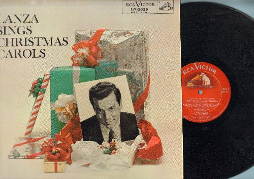 Lanza, Mario - Lanza Sings Christmas Carols: The First Noel, Deck The Halls, O Christmas Tree, Joy To The World, Guardian Angels (vinyl MONO LP record, RARE 1956 Red Seal issue) - NM9/NM9 - LP Records