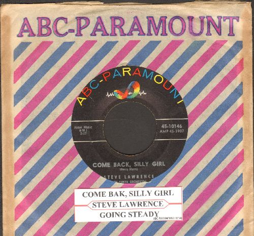 Lawrence, Steve - Come Back, Silly Girl/Going Steady (with ABC-Paramount company sleeve) - NM9/ - 45 rpm Records
