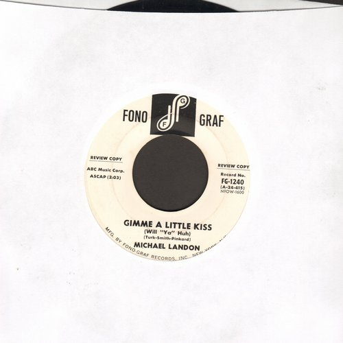 Landon, Michael - Gimme A Little Kiss/Be Patient With Me (DJ advance pressing, NICE condition!) - NM9/ - 45 rpm Records