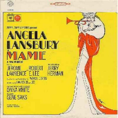 Lansbury, Angela - Mame: Original Broadway Cast Starring Angela Lansbury (Vinyl STEREO LP record) - EX8/VG7 - LP Records