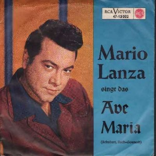 Lanza, Mario - Ave Maria (2 different versions, German Pressing with picture sleeve) - NM9/EX8 - 45 rpm Records