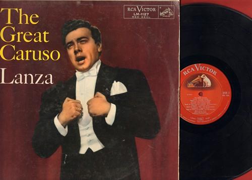 Lanza, Mario - The Great Caruso: La Donna E Mobile, Parmi Veder Le Lagrime, Vesti La Giubba (Vinyl MONO LP record, 1958 RED SEAL Pressing) - VG7/VG7 - LP Records