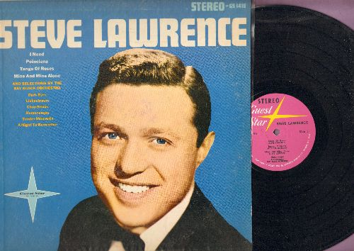 Lawrence, Steve - Steve Lawrence: I Need, Poinciana, Tango Of Roses, Mine And Mine Alone, Chop Sticks (by Ray Block Orchestra) (vinyl STEREO LP record) - NM9/EX8 - LP Records
