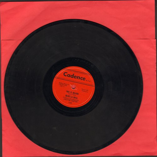 La Rosa, Julius - This Is Heaven/Anywhere I Wander (10 inch 78 rpm record) - EX8/ - 78 rpm