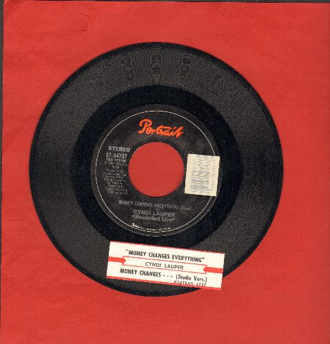 Lauper, Cyndi - Money Changes Everything (with juke box label) - NM9/ - 45 rpm Records
