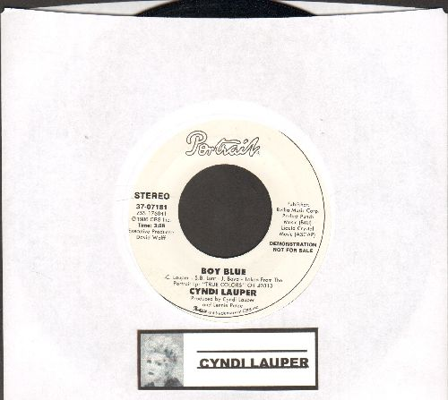 Lauper, Cyndi - Boy Blue (double-A-sided DJ advance pressing) - NM9/ - 45 rpm Records